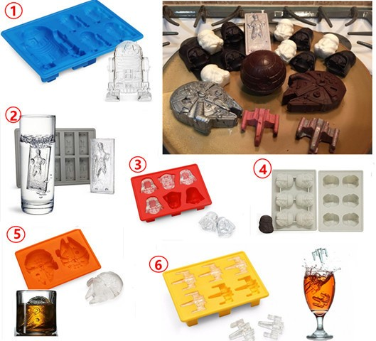 Ebluejay 6pcs set star wars ice tray cocktails silicone for Kitchen tool set of 6pcs sj