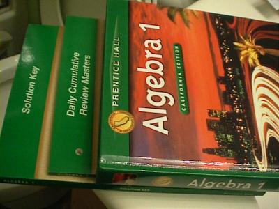 eBlueJay: prentice hall algebra 1 California Edition, SE+