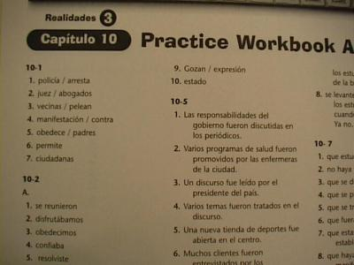 Realidades Workbook Capitulo 6 Related Keywords