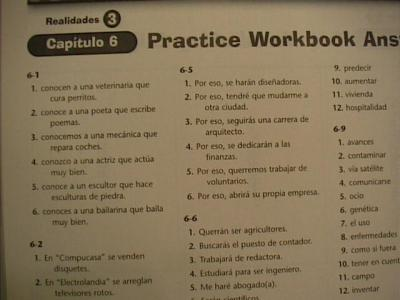 Bestseller: Practice Workbook Realidades 2 Capitulo 1a Answers