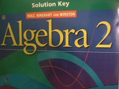 ebluejay holt algebra 2 complete solutions manual used. Black Bedroom Furniture Sets. Home Design Ideas