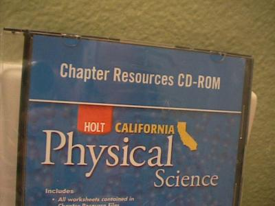 ebluejay holt california physical science chapter resources test on cd rom used for se. Black Bedroom Furniture Sets. Home Design Ideas