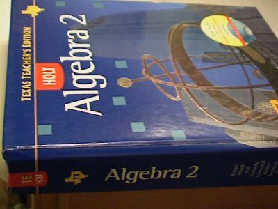EBlueJay Holt Algebra 2 Teacher S Edition Texas 07 Used