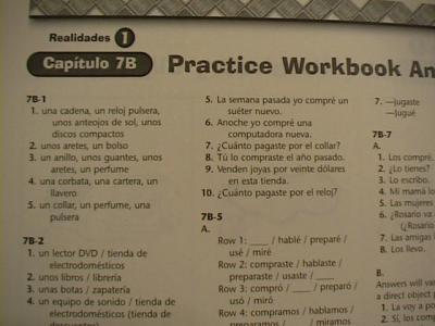 eBlueJay: Realidades 1 Rractice Workbook Answer Key ...