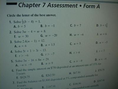 California mathematics grade 5 chapter 6