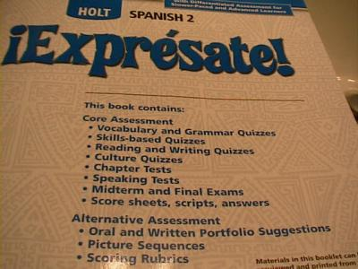 Ebluejay Expresate 2 Quizzes And Tests With Full Answers 06 08 No Cd Rom Basic Level Test Only