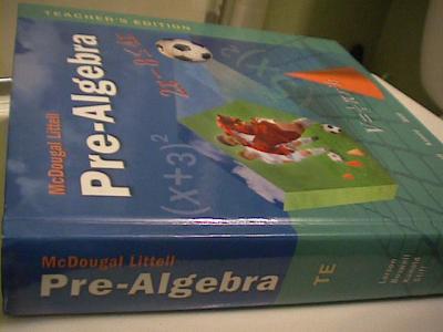 eBlueJay McDougal Littell Pre Algebra TEACHER 39 S EDITION 08 used for