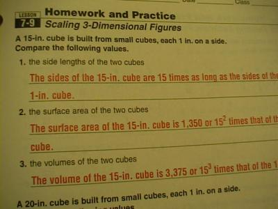 holt geometry homework and practice workbook answer key
