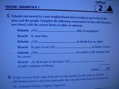 Worksheet Holt Spanish 1 Answer Key Chapter 6 holt expresate test answer chapter 6 28 images worksheets ebluejay 2 quizzes and chapter