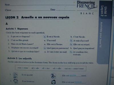 Discovering French Nouveau Blanc 2 Workbook Answer Key Pdf