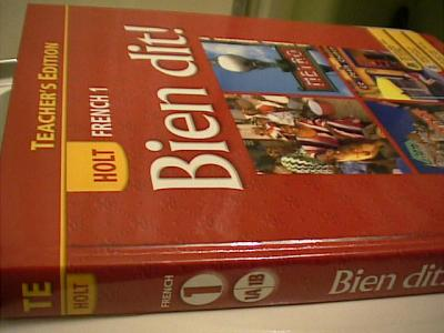 Holt French Bien Dit Level 1 Teacher S Edition 08 Used For Se Isbn 0030398886 Book