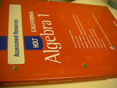 eBlueJay: Holt California Algebra 1 Test Book with Answers