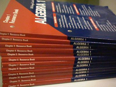 EBlueJay Mcdougal Littell Algebra 1 Chapter Resource Books