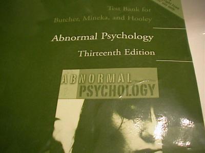 abnormal psychology test bank pdf