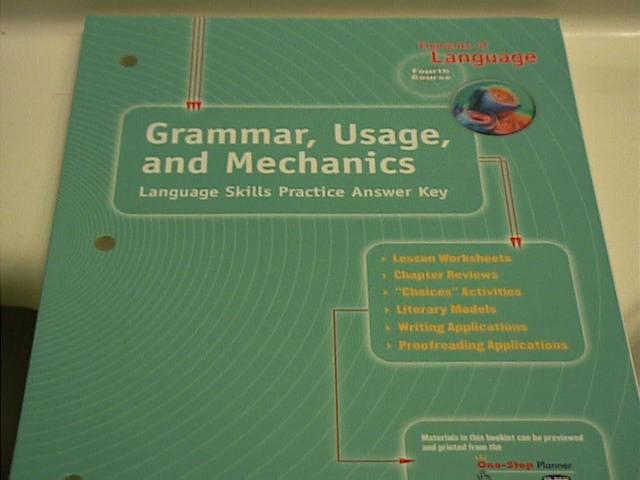 EBlueJay Isbn 0030563631 Elements Of Language Grammar Usage