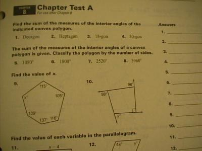 geometry look at book answers