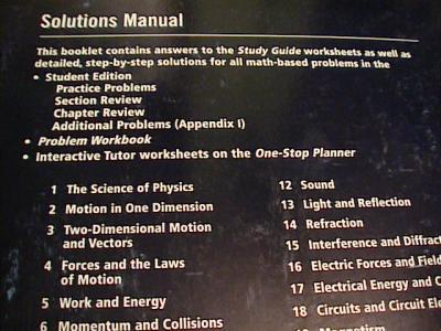 ebluejay holt physics solutions manual 06 09 used for. Black Bedroom Furniture Sets. Home Design Ideas