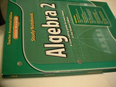 eBlueJay: glencoe algebra 2 study notebook TEACHER'S EDITION