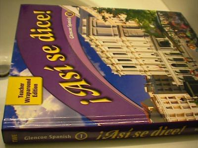 EBlueJay Glencoe Asi Se Dice Spanish 1 Teacher S Edition