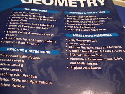 EBlueJay Mcdougal Littell Geometry Chapter Resource Books 1