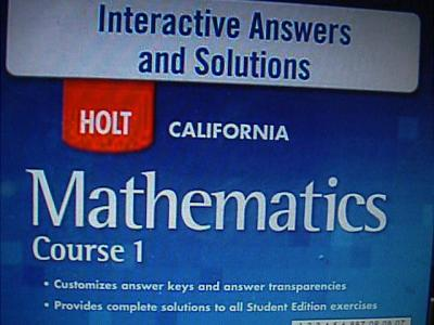 ebluejay 0030948088 holt california mathematics course 1. Black Bedroom Furniture Sets. Home Design Ideas