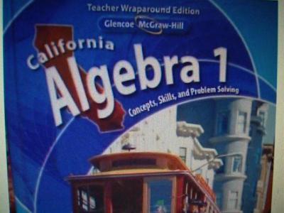 EBlueJay 0078778530 California Algebra 1 Concepts Skills