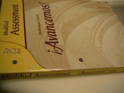 EBlueJay Avancemos 2 TEST BOOK With Answers 07 10 Used