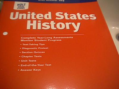 ebluejay holt social studies united states history test. Black Bedroom Furniture Sets. Home Design Ideas