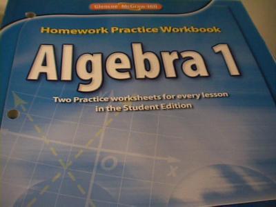 eBlueJay: 0078908361 Glencoe McGraw Hill Algebra 1 Homework Practice ...