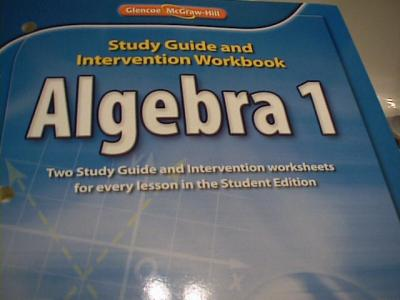 EBlueJay 0078908353 Glencoe Algebra 1 Study Guide And