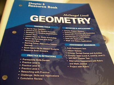 EBlueJay Mcdougal Littell Geometry Chapter 9 Resource Book