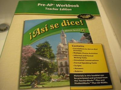 EBlueJay Asi Se Dice Glencoe Spanish 3 TE Pre AP Workbook