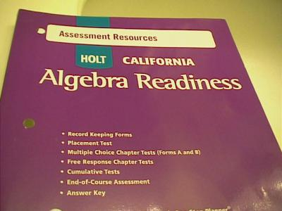 EBlueJay Holt California Algebra Readiness Test Book With