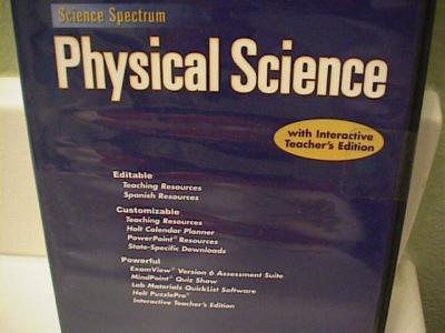 eBlueJay: Holt scicence spectrum physical science Resources