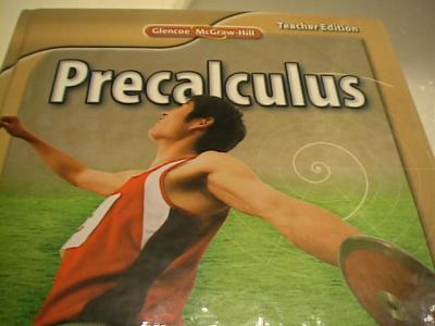 eBlueJay: Glencoe Precalculus Teacher's Edition (used for SE