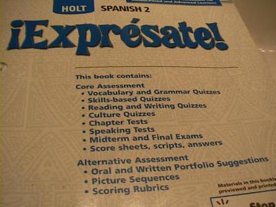 EBlueJay Holt Spanish Expresate 2 Test Book With CD Rom 06