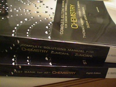 Student solutions manual for zumdahl/decoste's chemical principles.
