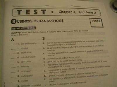 principles of business economics test answers