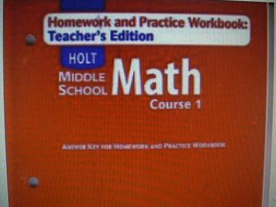 holt middle classes math concepts training 1 the answers homework