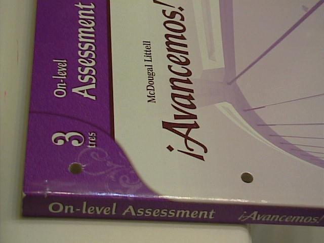 EBlueJay Avancemos Level 3 On Level Assessment Test 07 10