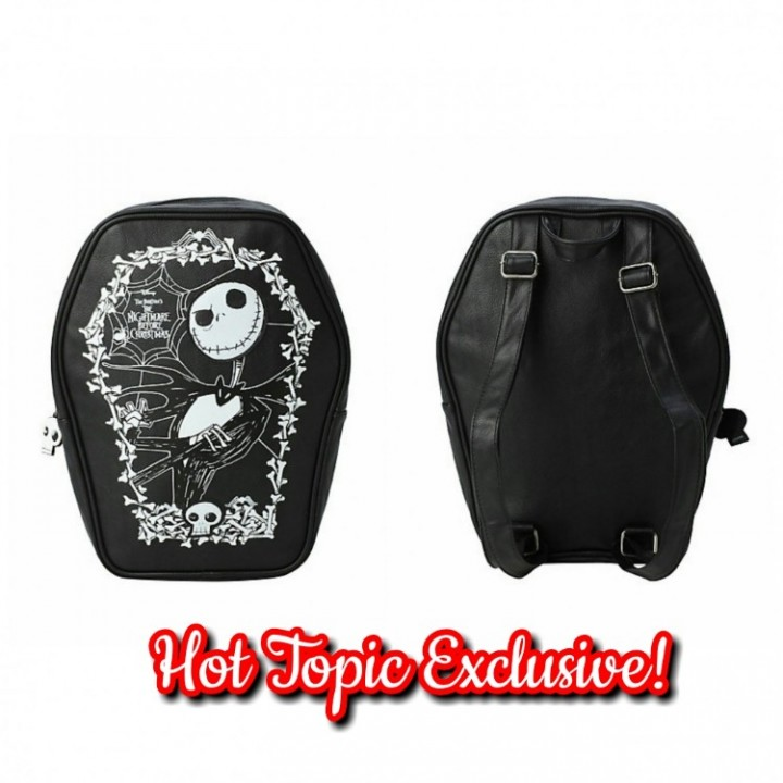 1d387101e60 Hot Topic Loungefly Disney Nightmare Before Christmas Jack Skellington  Cameo Coffin Backpack
