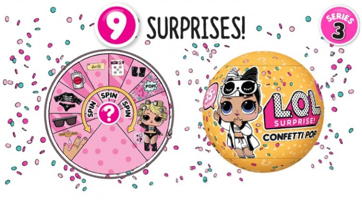 Ebluejay L O L Surprise Series 3 2 Confetti Pop Tots Doll 9 Layers Mystery Blind Ball 2 Packs
