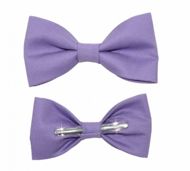 ebluejay amethyst purple clip on cotton bow tie boys