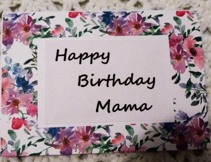 Ebluejay Happy Birthday Mama Greeting Card 5x7 Handmade Greeting