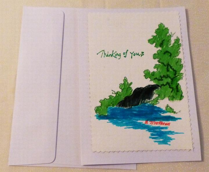 Ebluejay handmade greeting card hand painted all occasion greeting previous next m4hsunfo