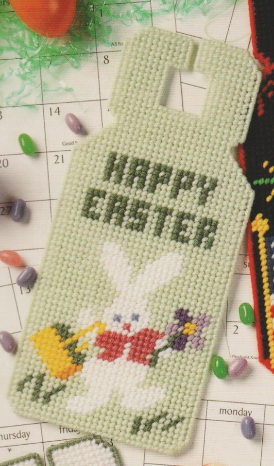 Personalized Easter Egg and Bunny Door Hanging-Plastic Canvas Pattern or Kit