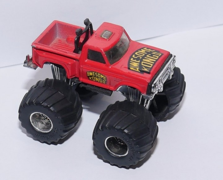 On Hold Matchbox Supercharger Red Monster Truck Awesome Kong II Vintage 1985
