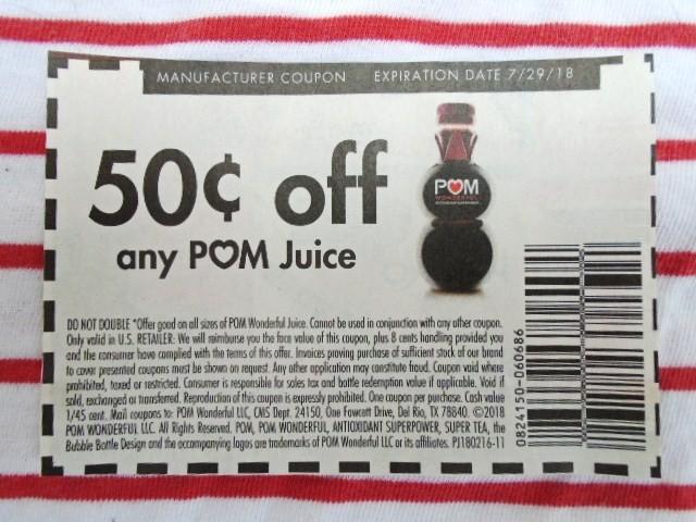 Pom juice coupons 2019