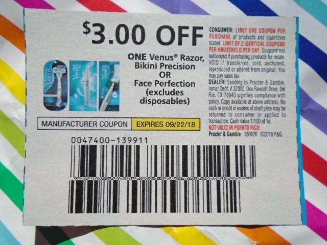 manufacturer coupons venus razors