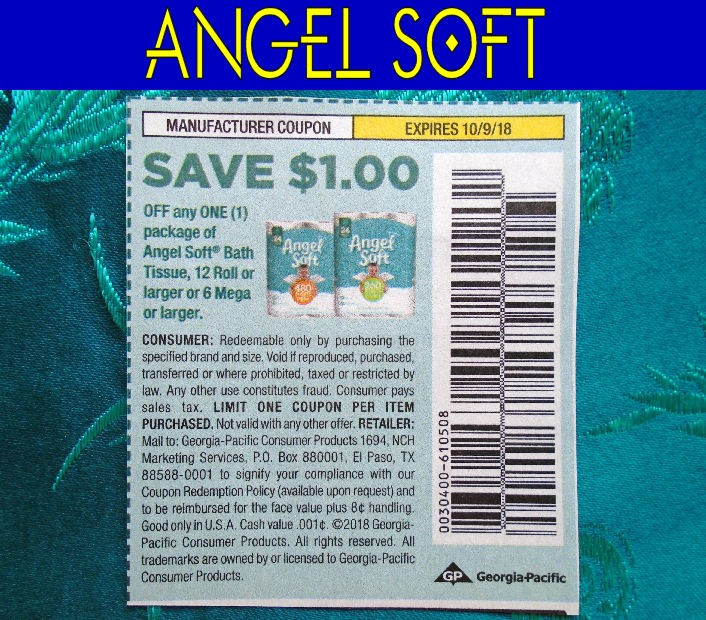 Ebluejay 20 Angel Soft Bath Tissue Coupons 1 Off 1 Exp 10 9 2018
